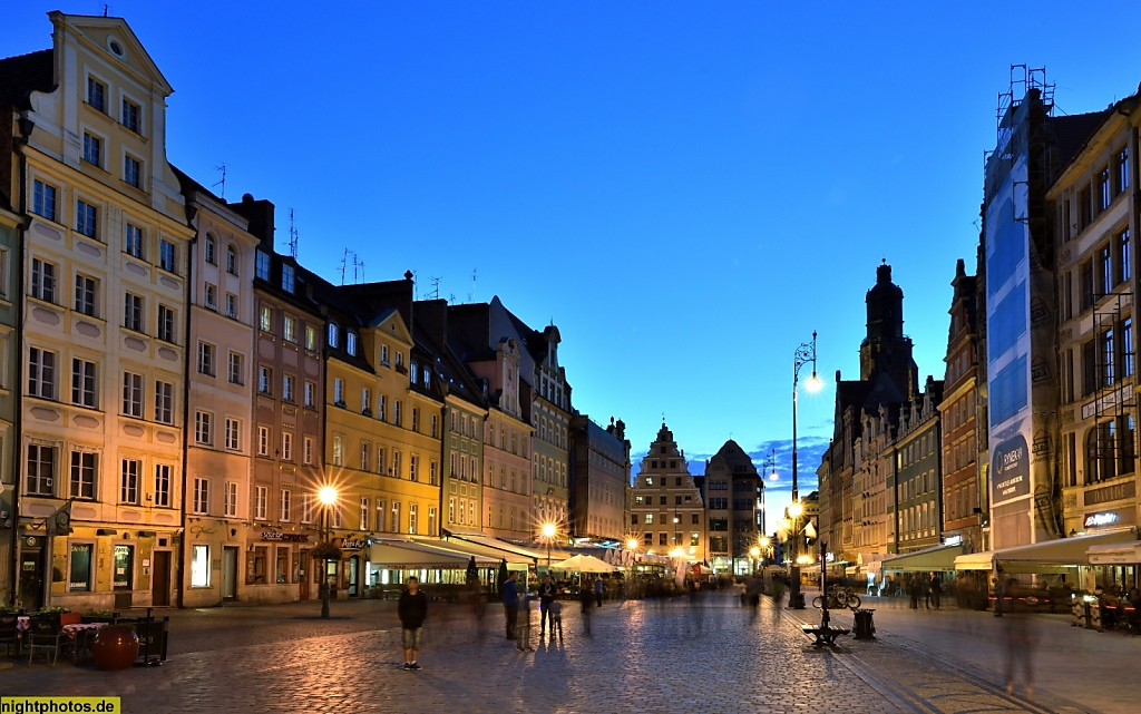 Wrocław Breslau Großer Markt Rynek 19-07 und 47-60