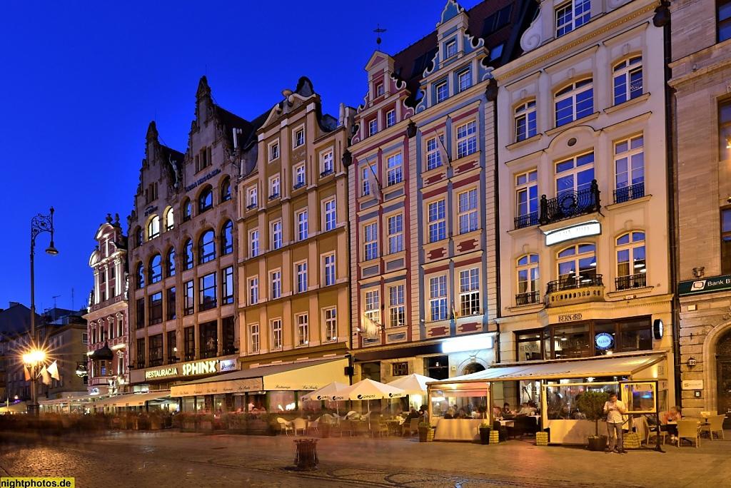 Wrocław Breslau Großer Markt Rynek 36-41
