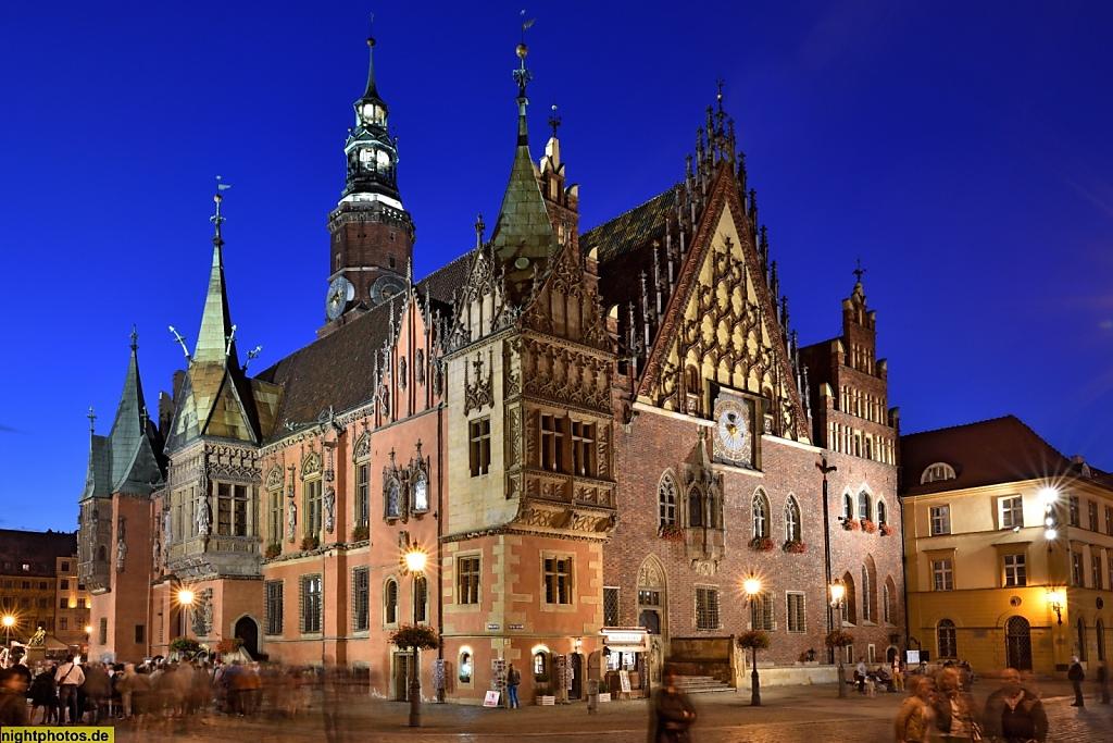 Wrocław Breslau Rathaus am Großen Markt Rynek