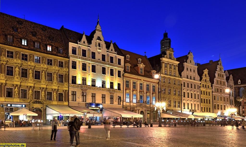 Wrocław Breslau Großer Markt Rynek 08-01 Westseite