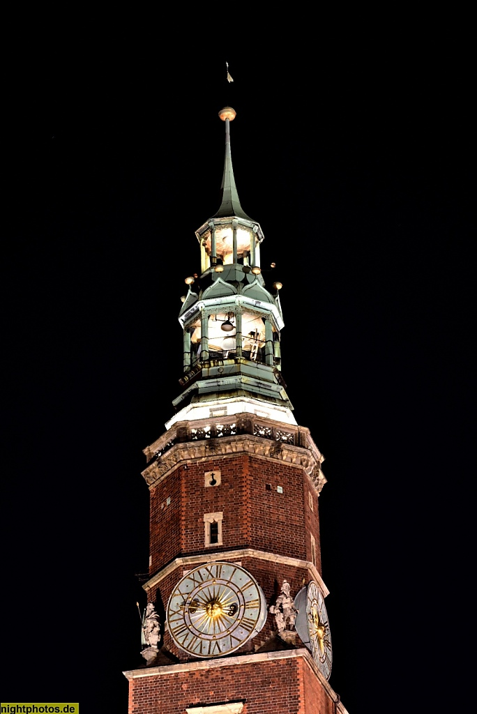 Wrocław Breslau Rathausturm am Großen Markt Rynek