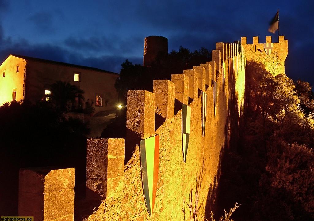 Mallorca Capdepera Castell de Capdepera erbaut im 14 Jhdt