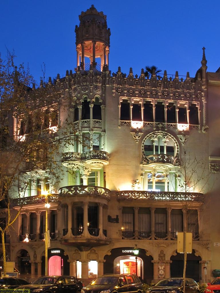 Barcelona Casa Lleo Morera am Passeig de Gracia erbaut von Lluis Domenech i Montaner 1902-1906