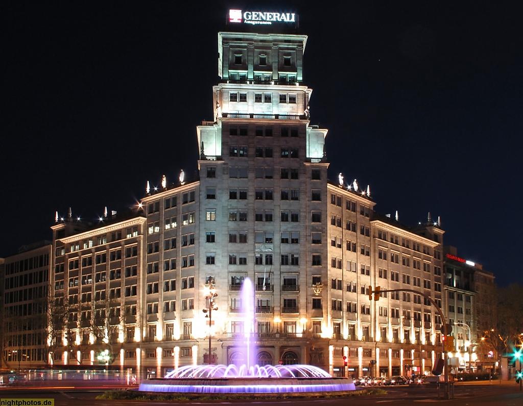 Barcelona Generali-Hochhaus am Passeig de Gracia Ecke Gran Via de les Corts Catalanes