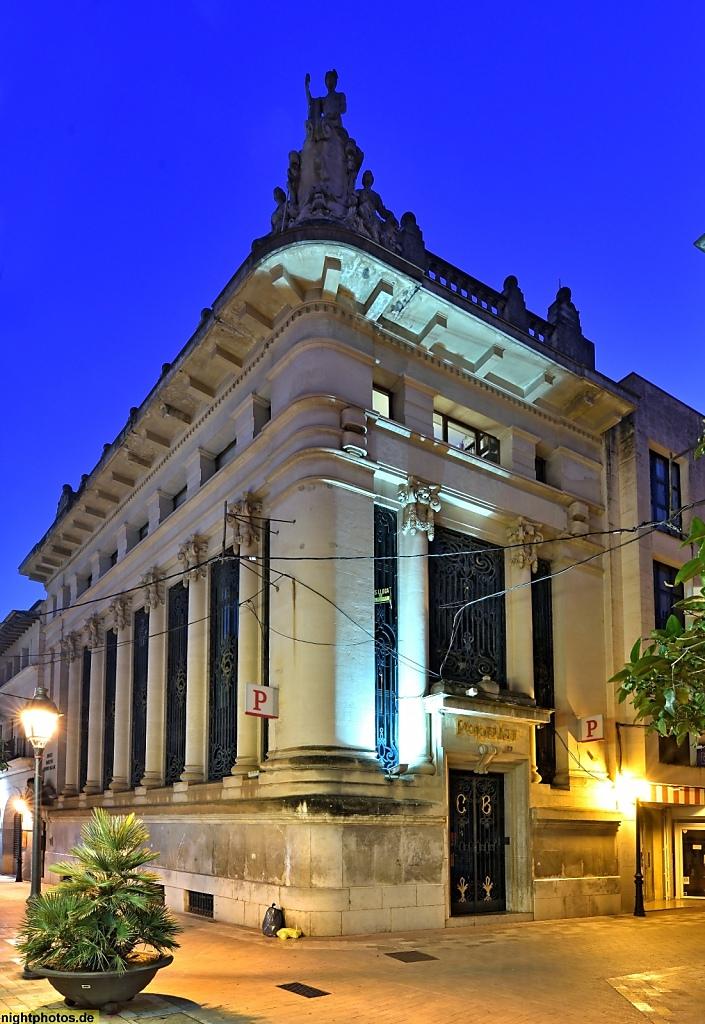 Mallorca Manacor Banco Popular Carrer d'En Bosch y Carrer de n'Alexandre Rosselló