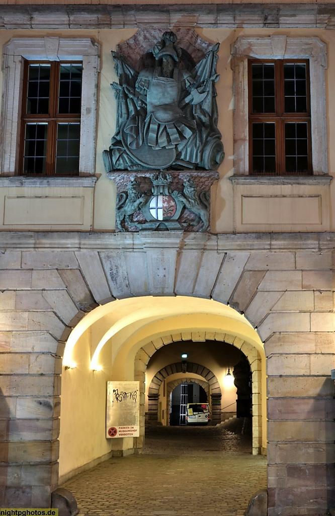 Fulda Vonderau-Museum Portal mit Wappen der alten Universität Fulda
