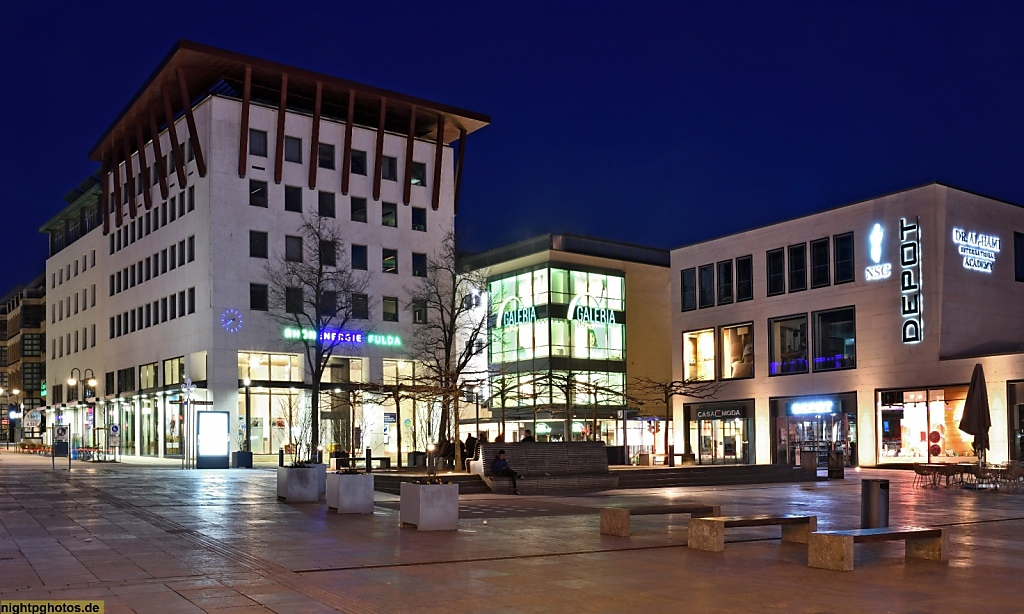 Fulda Universitätsplatz Rhönenergie Kaufhof Depot Dr Al-Hami Academy