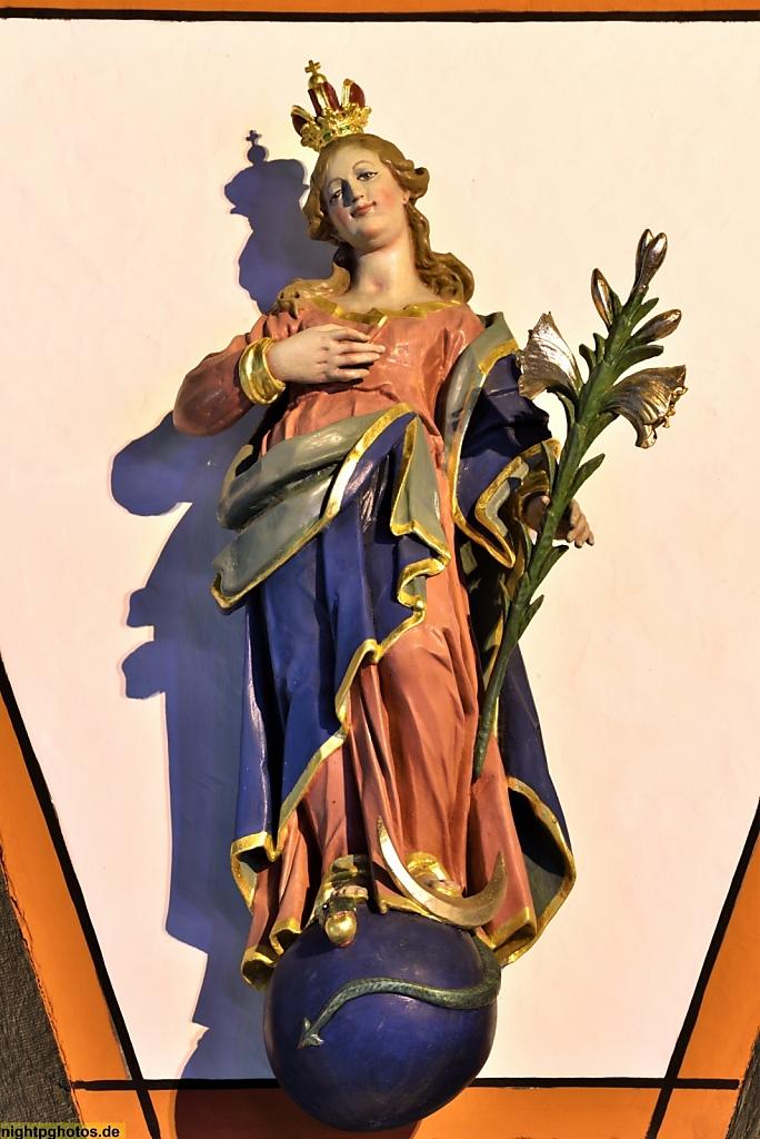 Fulda Madonnenfigur am Alten Rathaus erbaut 1531 genutzt bis 1782. Madonnenfigur