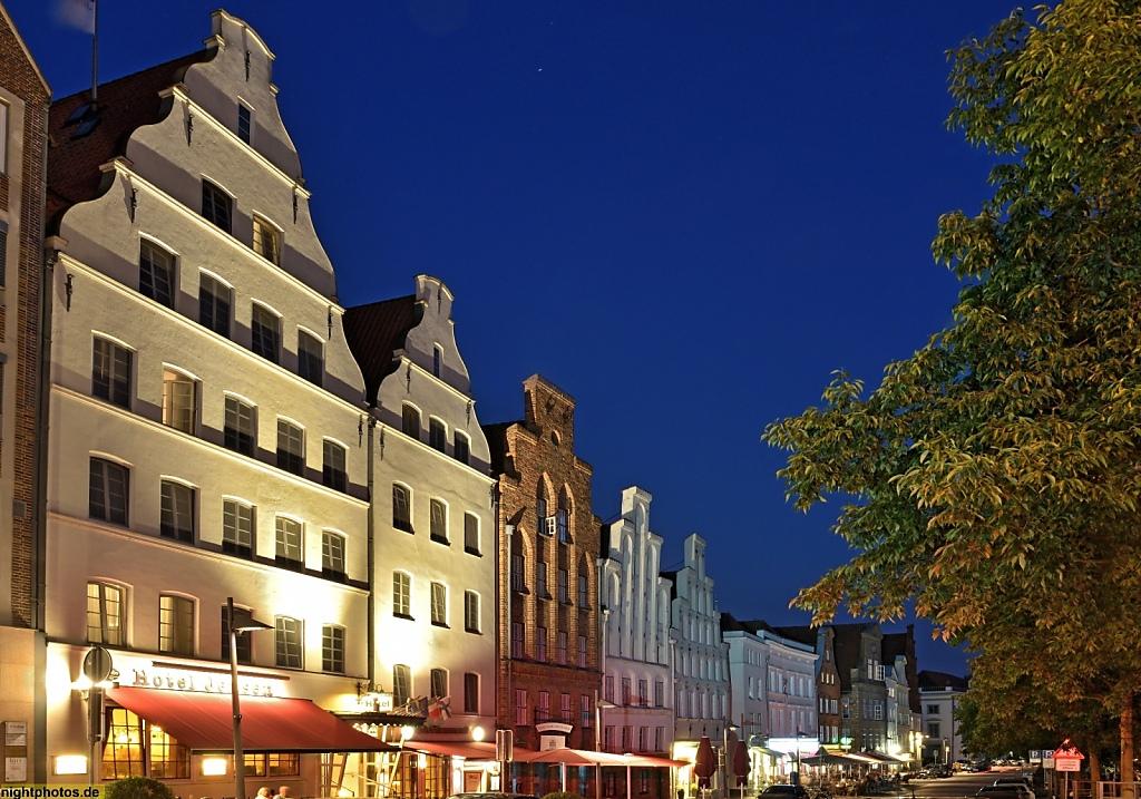 Lübeck Giebelhäuser an der Obertrave