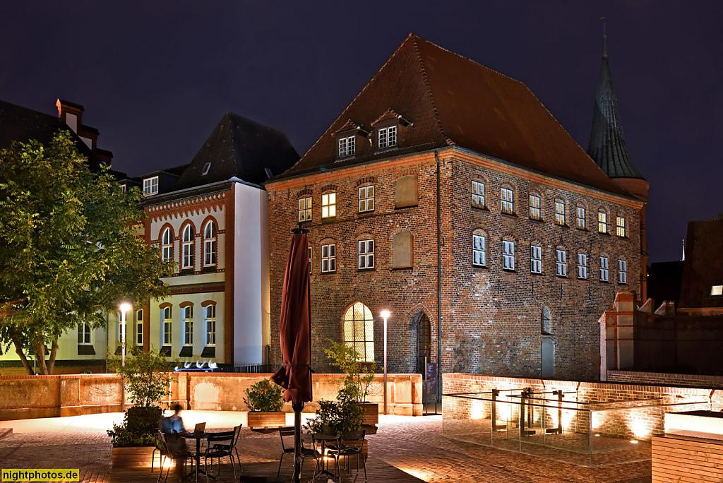 Lübeck Maria-Magdalenen-Kloster. Burgkloster des Dominikanerorden 1227-1531. Zuvor erbaut als Burg 1147 von Graf Adolf II von Schauenburg