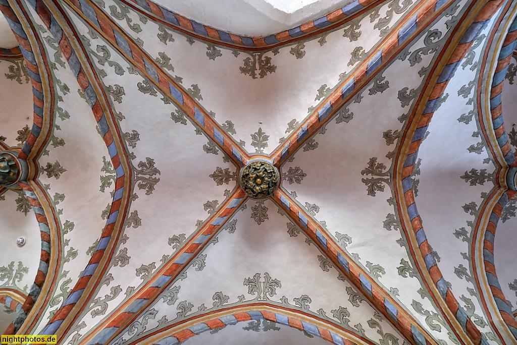 Lübeck Maria-Magdalenen-Kloster. Burgkloster des Dominikanerorden 1227-1531. Kapitelsaal mit Kreuzrippengewoelbe