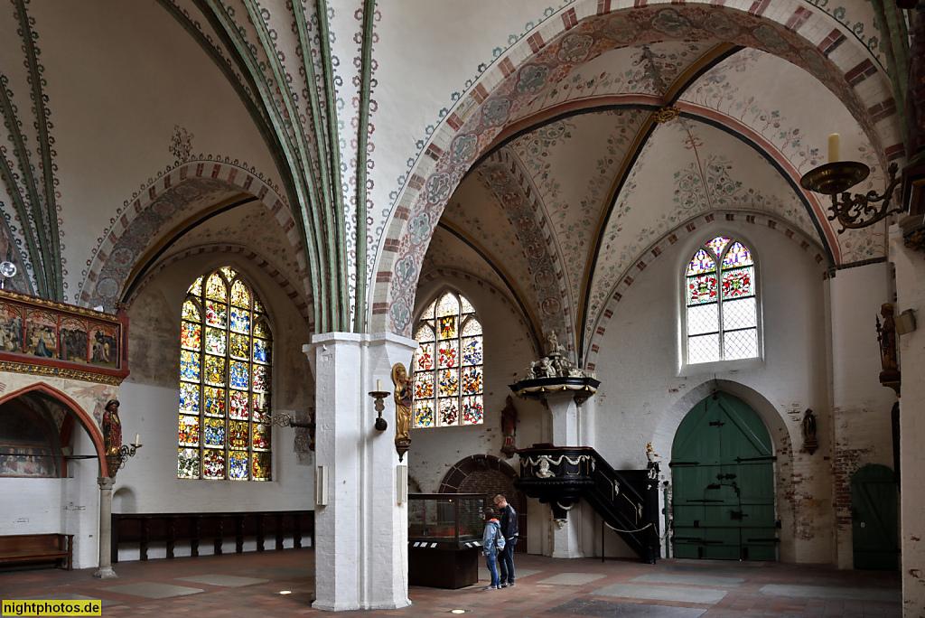 Lübeck Koberg Heiligen-Geist-Hospital erbaut 1286 als Sozialeinrichtung. Kirchenfenster