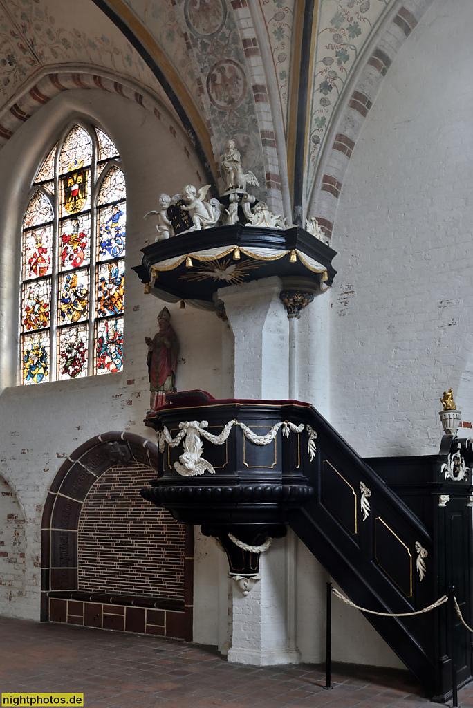 Lübeck Koberg Heiligen-Geist-Hospital erbaut 1286 als Sozialeinrichtung. Kanzel