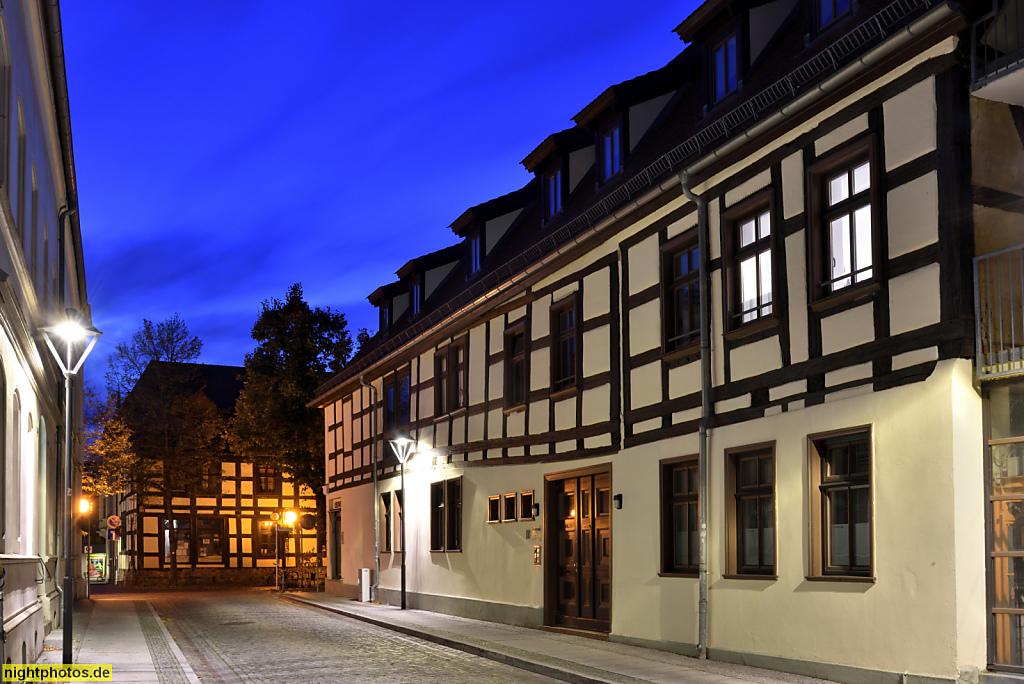 Bernau Fachwerkbauten in der Altstadt. Louis-Braille-Strasse Ecke Brauerstrasse