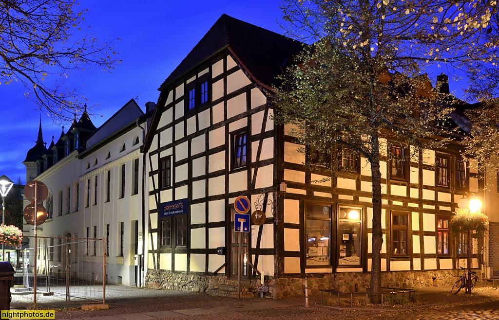 Bernau Fachwerkbauten in der Altstadt. Brauerstrasse
