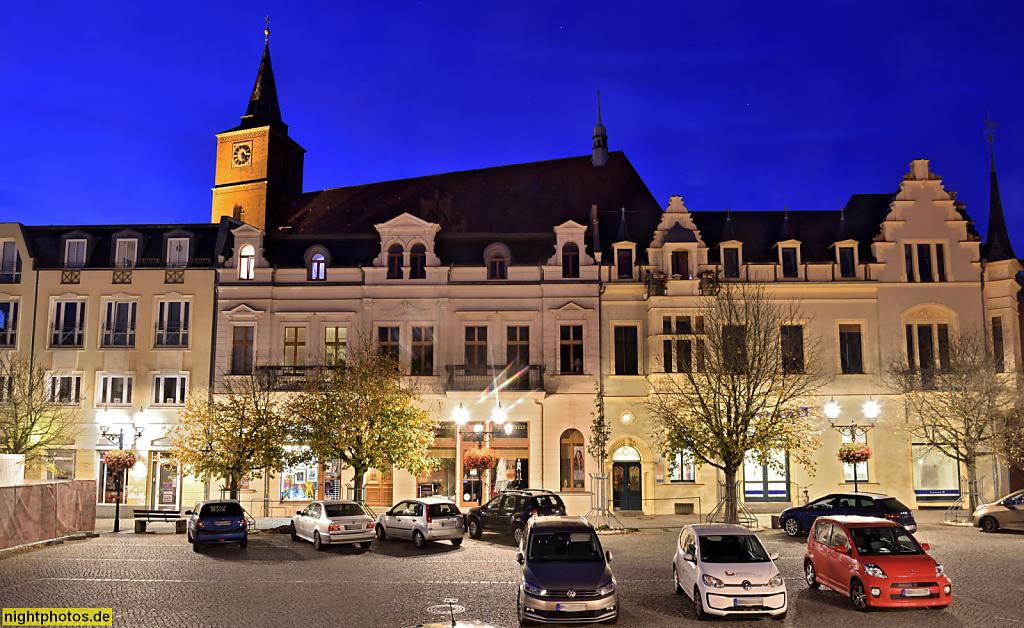 Bernau Wohnhäuser am Marktplatz erbaut 1890. Ehemals Tiede-Junker'sches Holzfachwerk-Wohnhaus