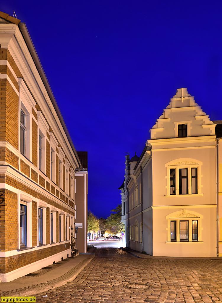 Bernau Altstadt Blick von Kirchgasse zur Brauerstrasse