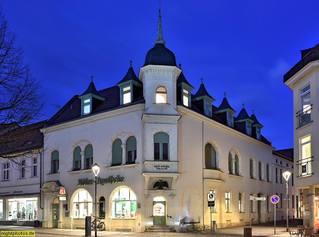 Bernau Adler-Apotheke erbaut 1901 im Jugendstil in der Bürgermeisterstrasse