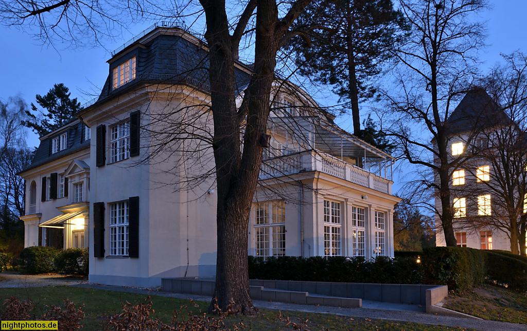 Berlin Dahlem Fritz-Haber-Institut Haber-Villa erbaut 1912 von Ernst von Ihne als Direktorenwohnhaus des Kaiser-Wilhelm-Institut für Physikalische und Elektro-Chemie