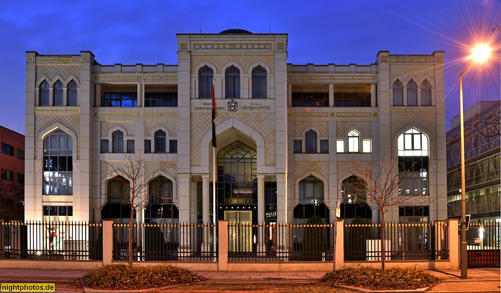 Berlin Tiergarten Botschaft der Vereinigten Arabischen Emirate erbaut 2002-2004 von Architekten Tom Krause und Astrid Bohne aus Eschweiler